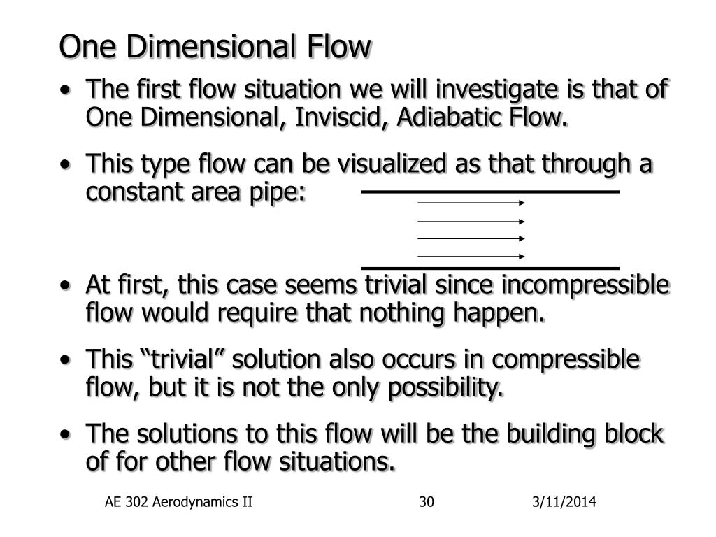 One Dimensional Flow