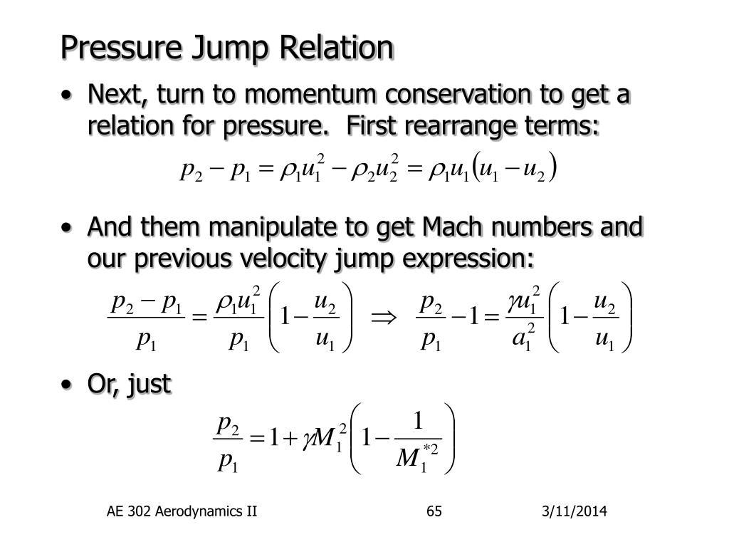 Pressure Jump Relation