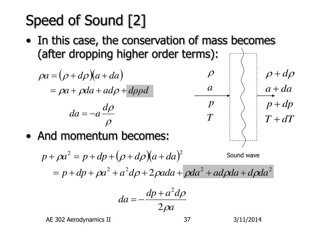 Speed of Sound [2]