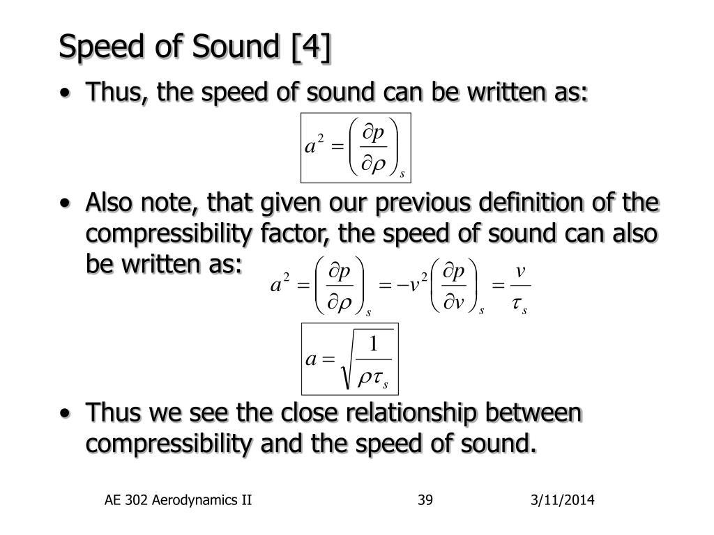 Speed of Sound [4]