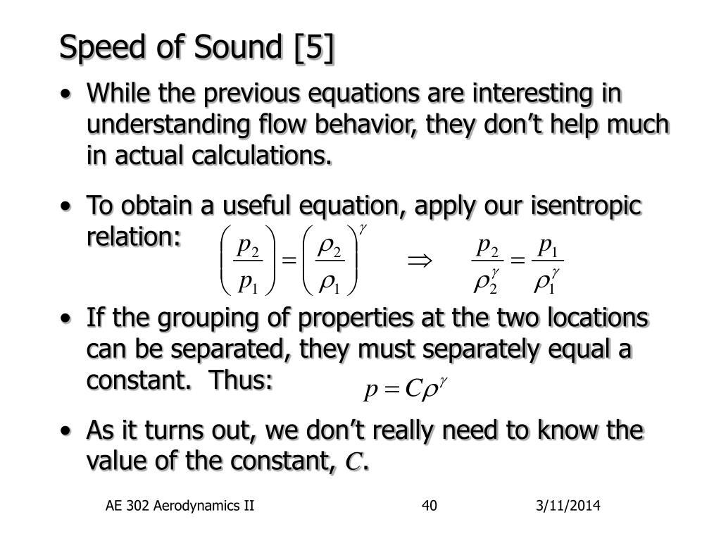 Speed of Sound [5]