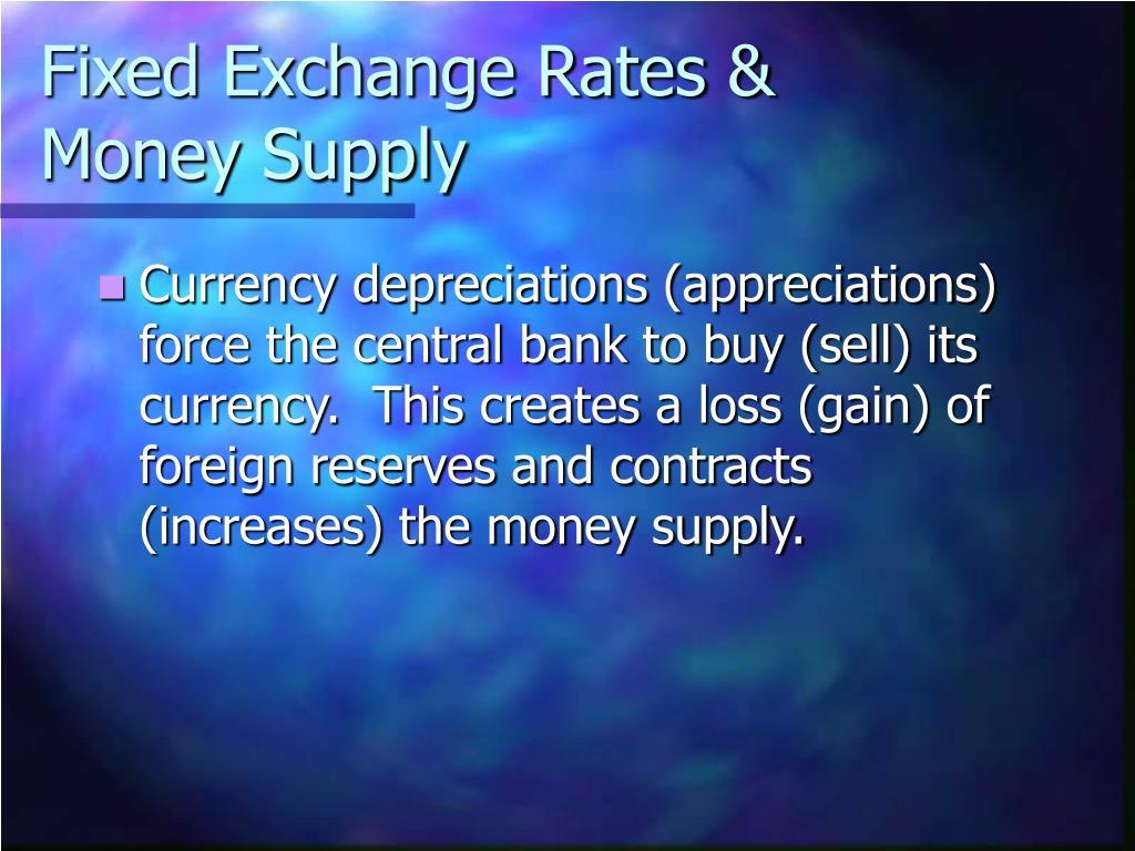 Fixed Exchange Rates & Money Supply