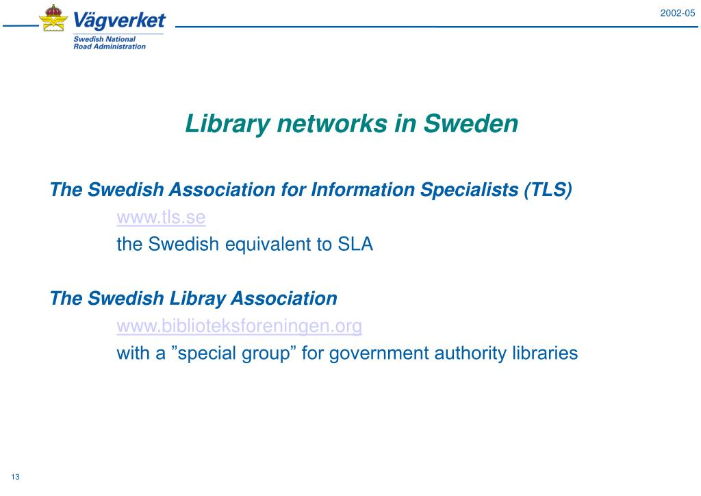 Library networks in Sweden