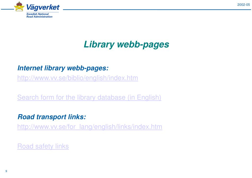 Library webb-pages