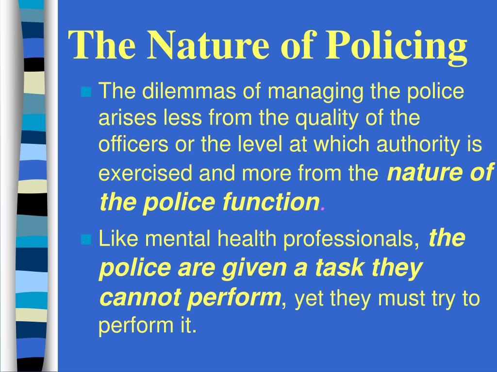 The Nature of Policing