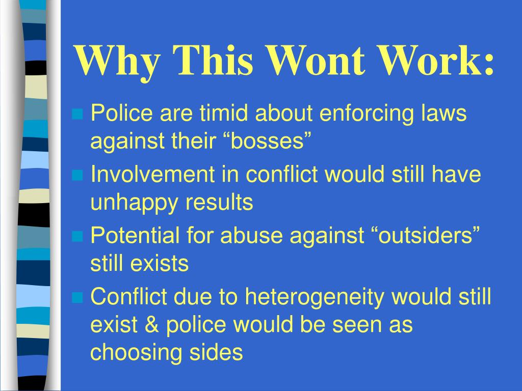 Why This Wont Work: