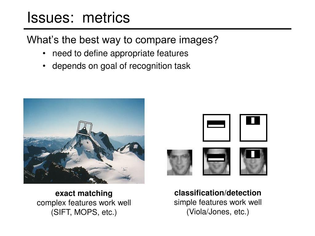 Issues:  metrics
