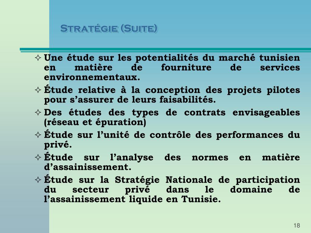 Stratégie (Suite)