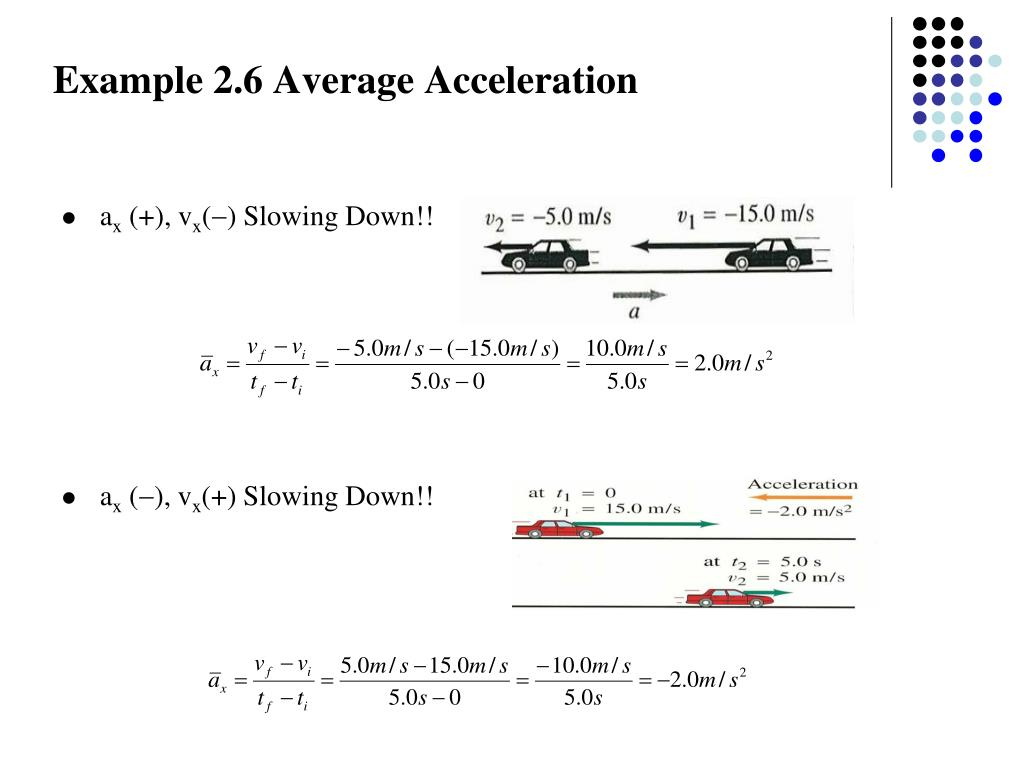 PPT - Chapter 2: Motion in One Dimension EXAMPLES ...