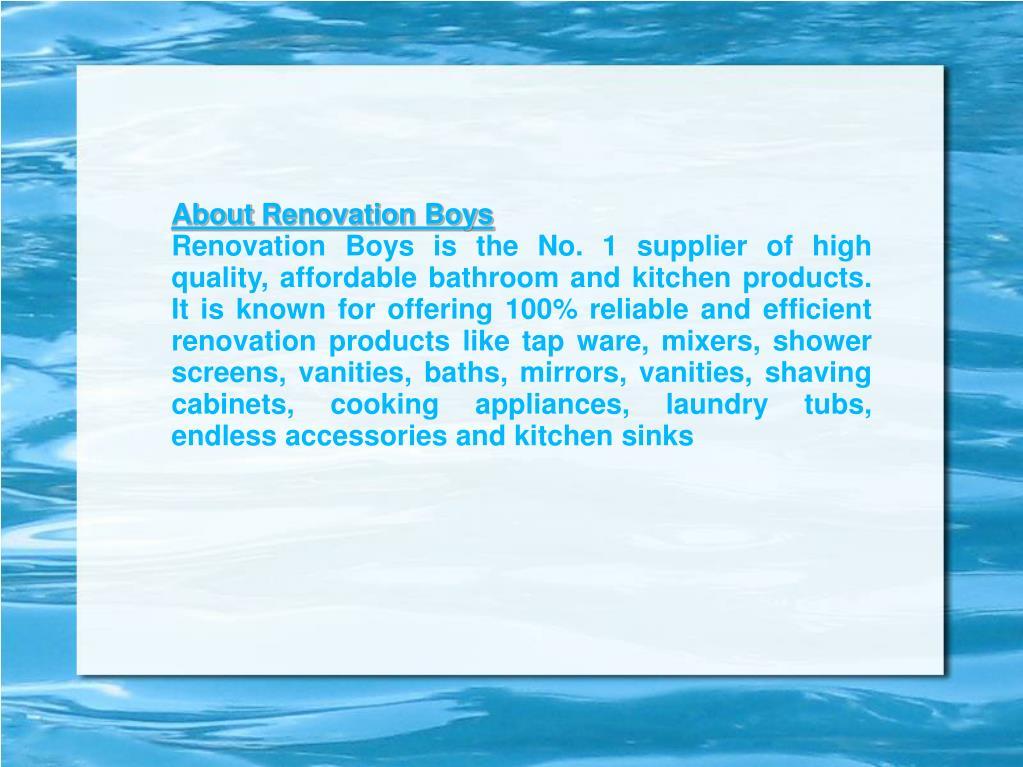 AboutRenovation Boys