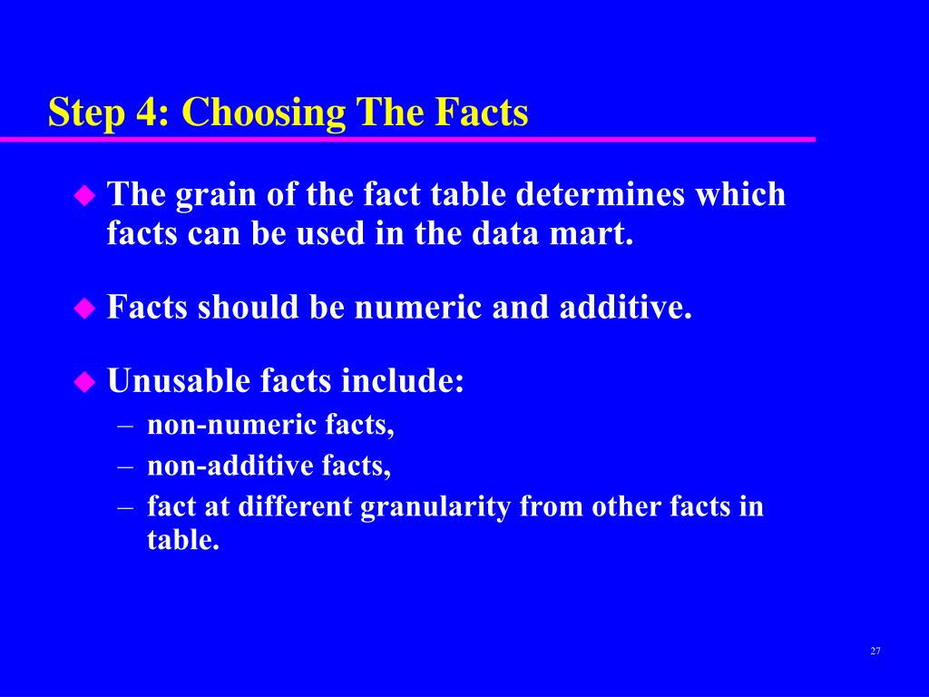 Step 4: Choosing The Facts