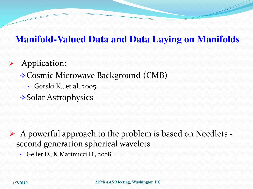 Manifold-Valued Data and Data Laying on Manifolds