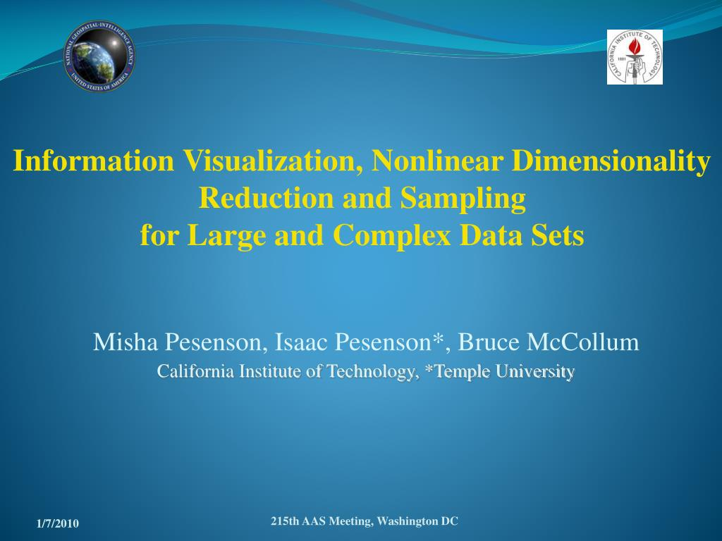Information Visualization, Nonlinear Dimensionality Reduction and Sampling