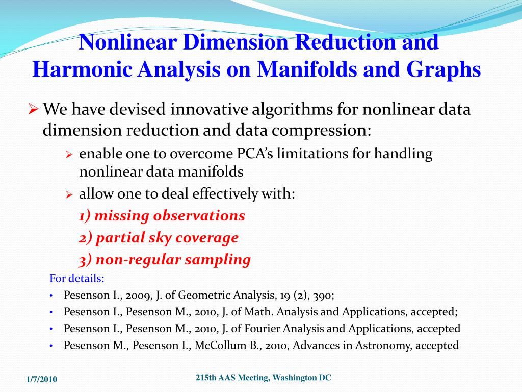Nonlinear Dimension Reduction and