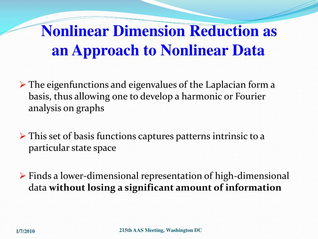 Nonlinear Dimension Reduction as