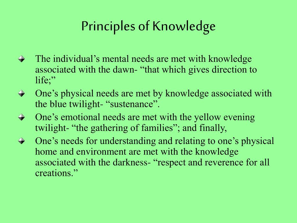 Principles of Knowledge