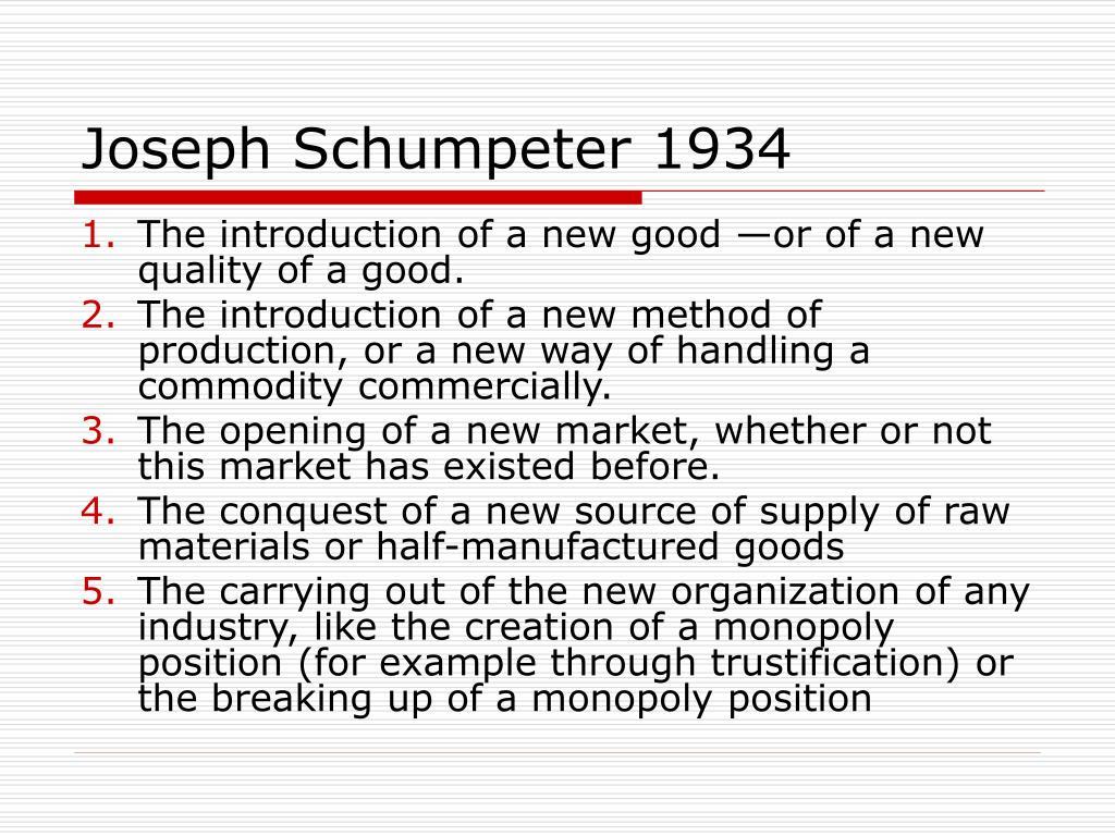 Joseph Schumpeter 1934