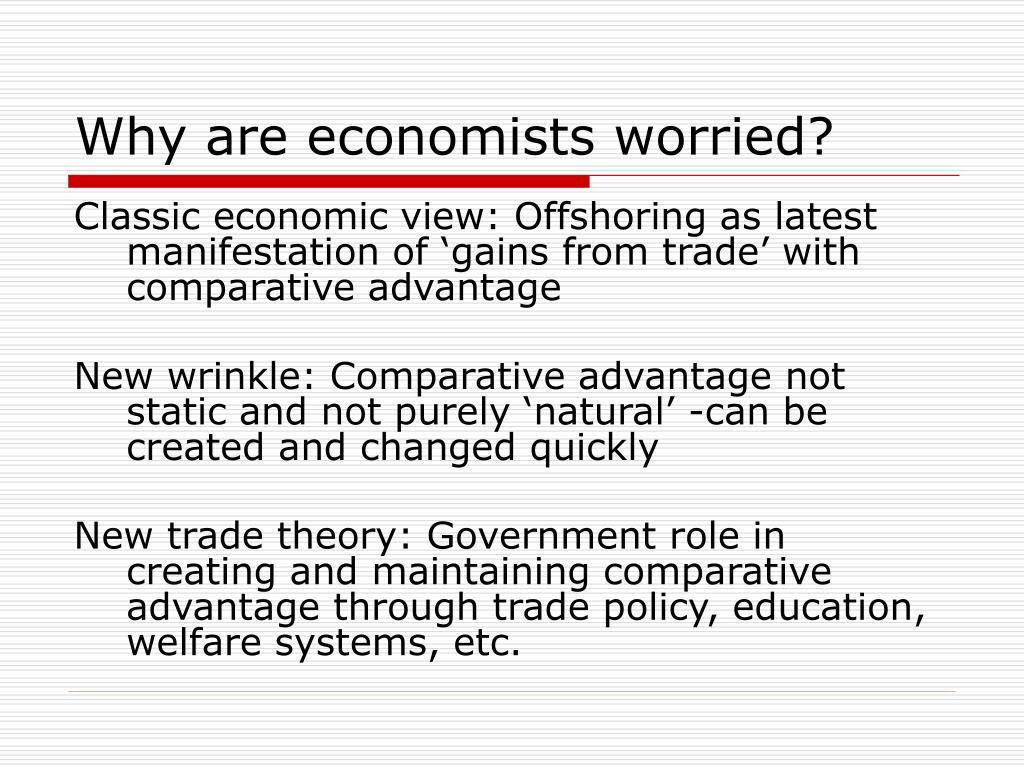 Why are economists worried?