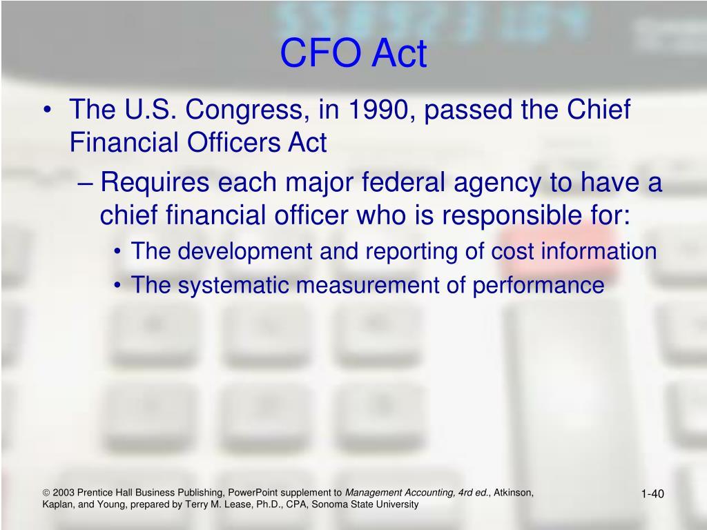 CFO Act