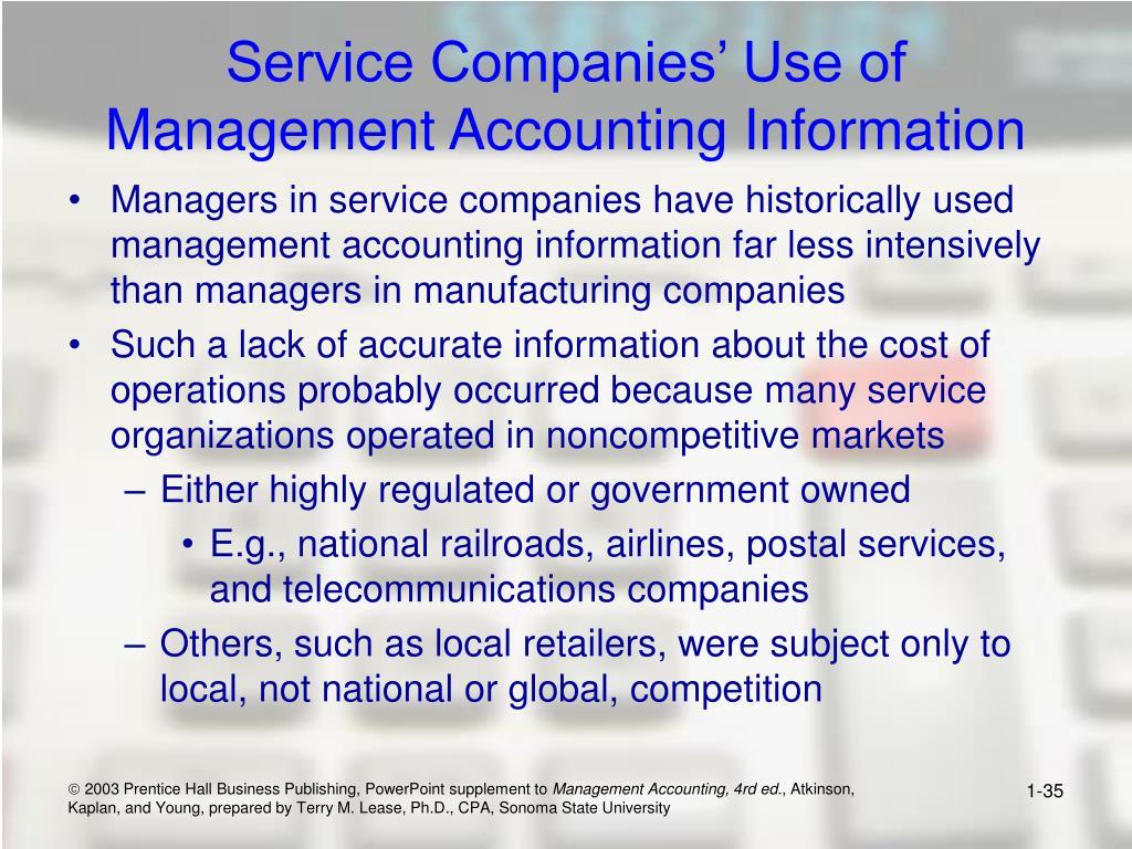 Service Companies' Use of