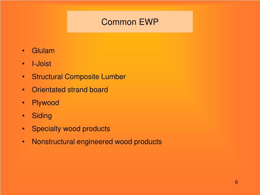 Common EWP