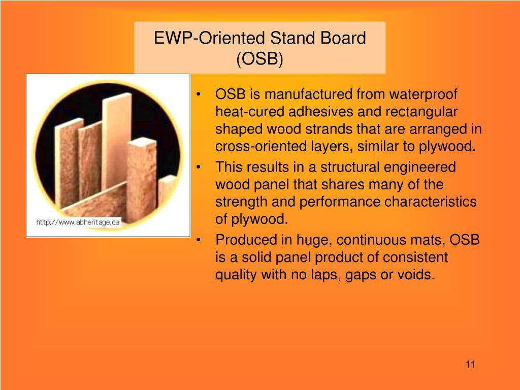 EWP-Oriented Stand Board (OSB)