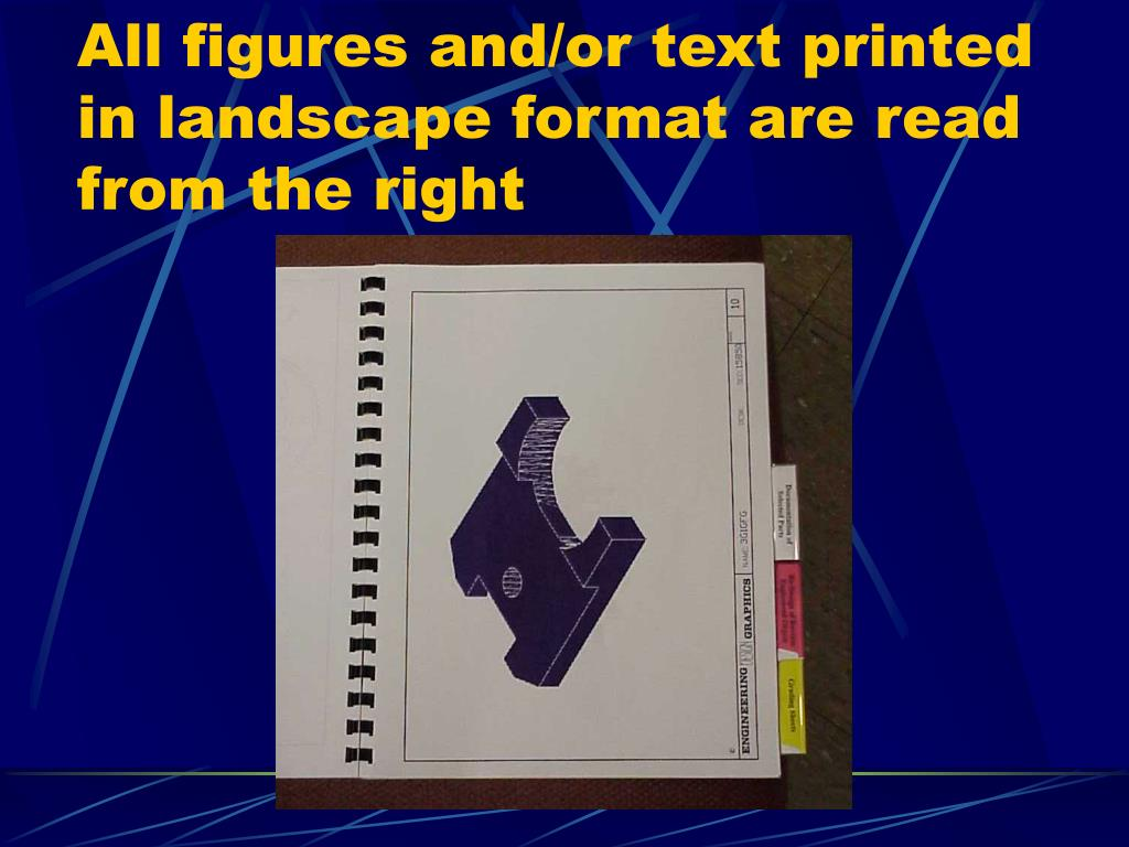 All figures and/or text printed in landscape format are read from the right