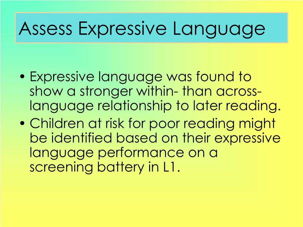 Assess Expressive Language