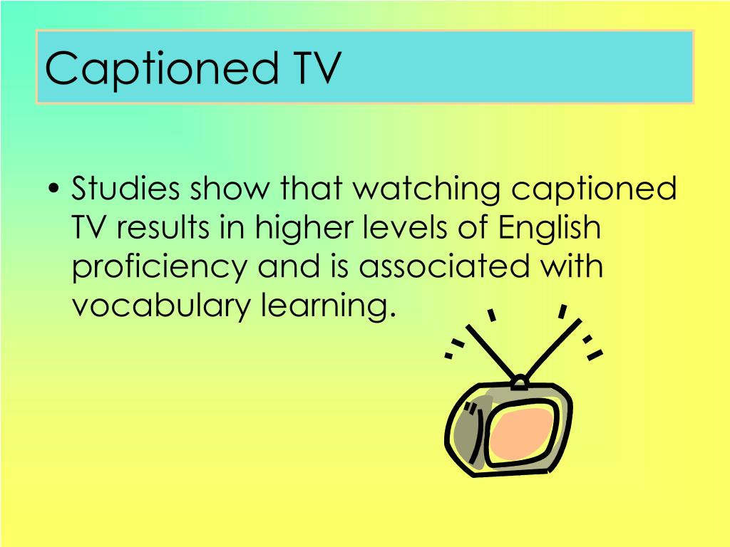 Captioned TV
