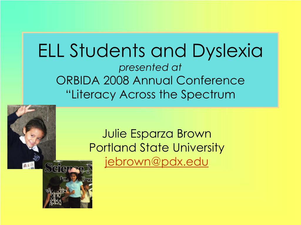 ELL Students and Dyslexia