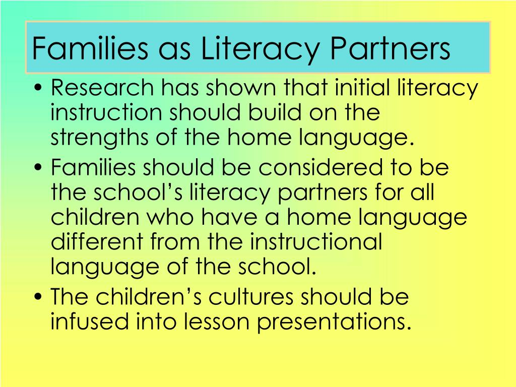 Families as Literacy Partners