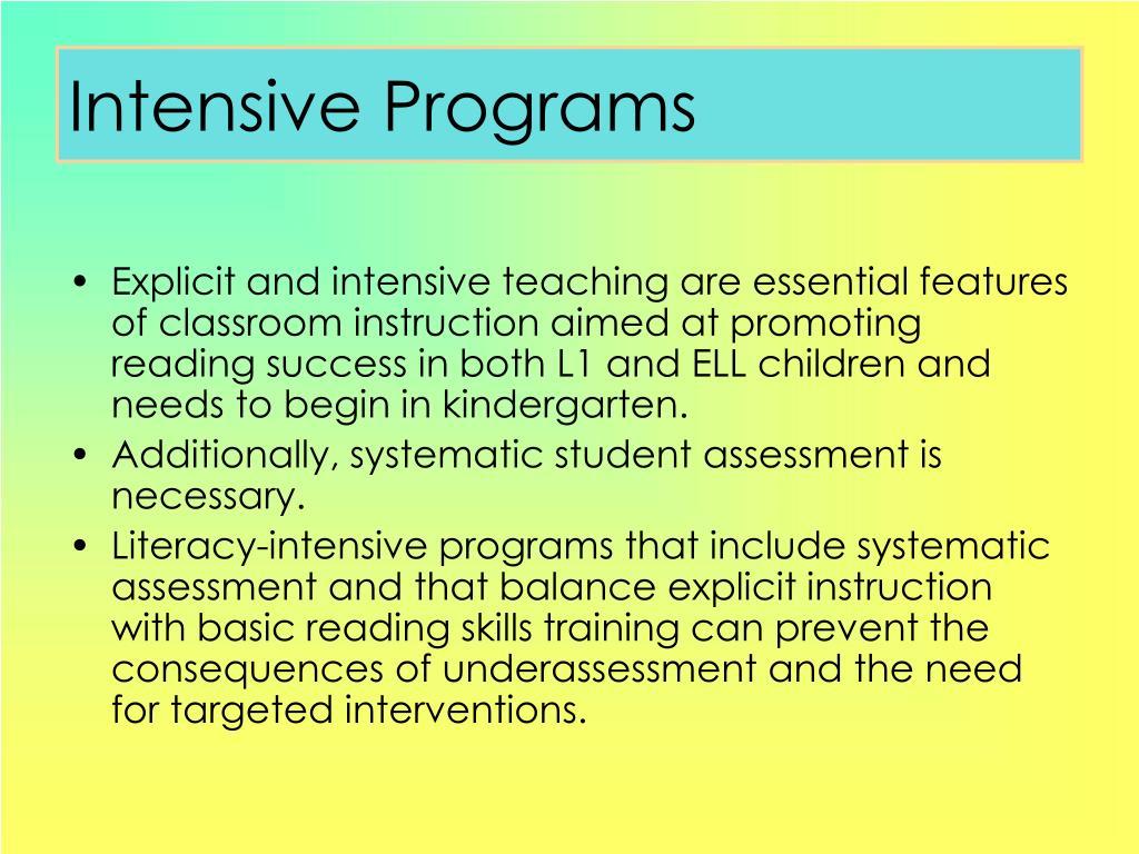 Intensive Programs
