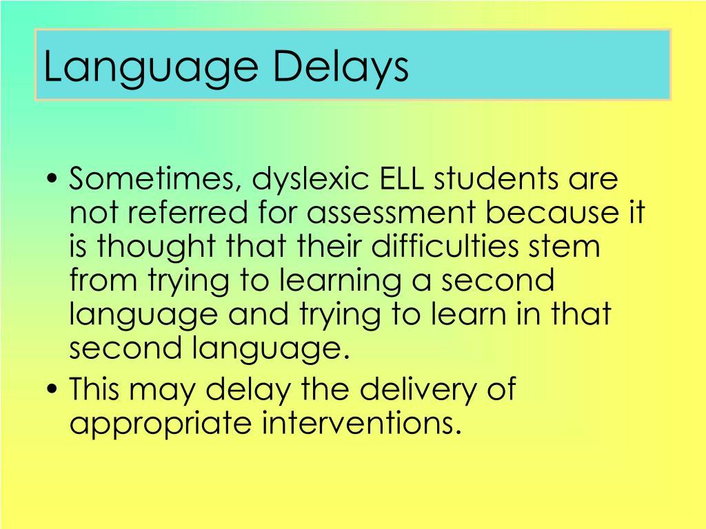 Language Delays
