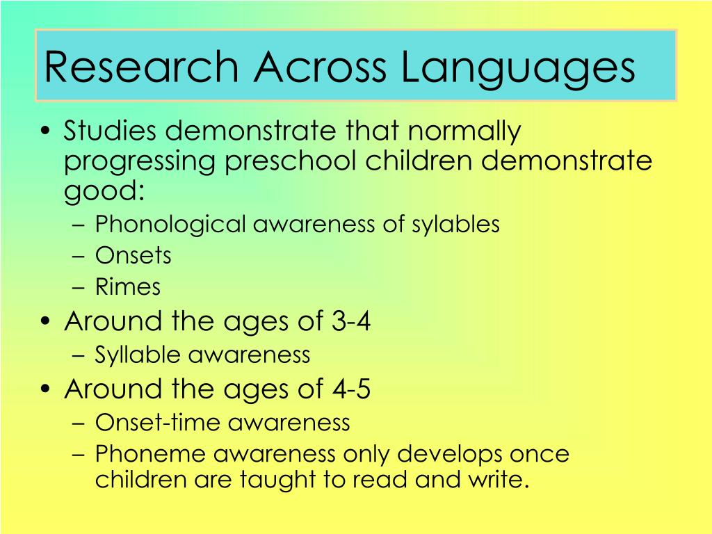 Research Across Languages