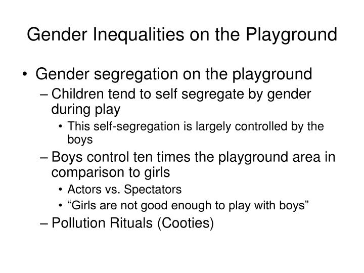 Gender inequalities on the playground l.jpg