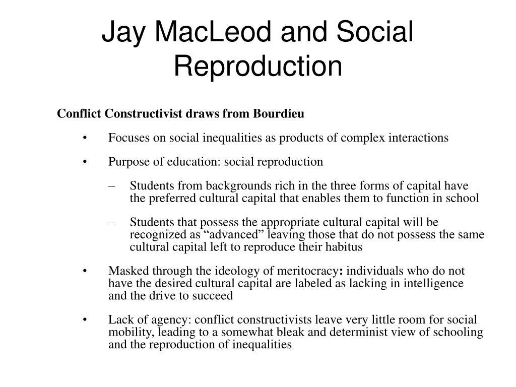 Jay MacLeod and Social Reproduction