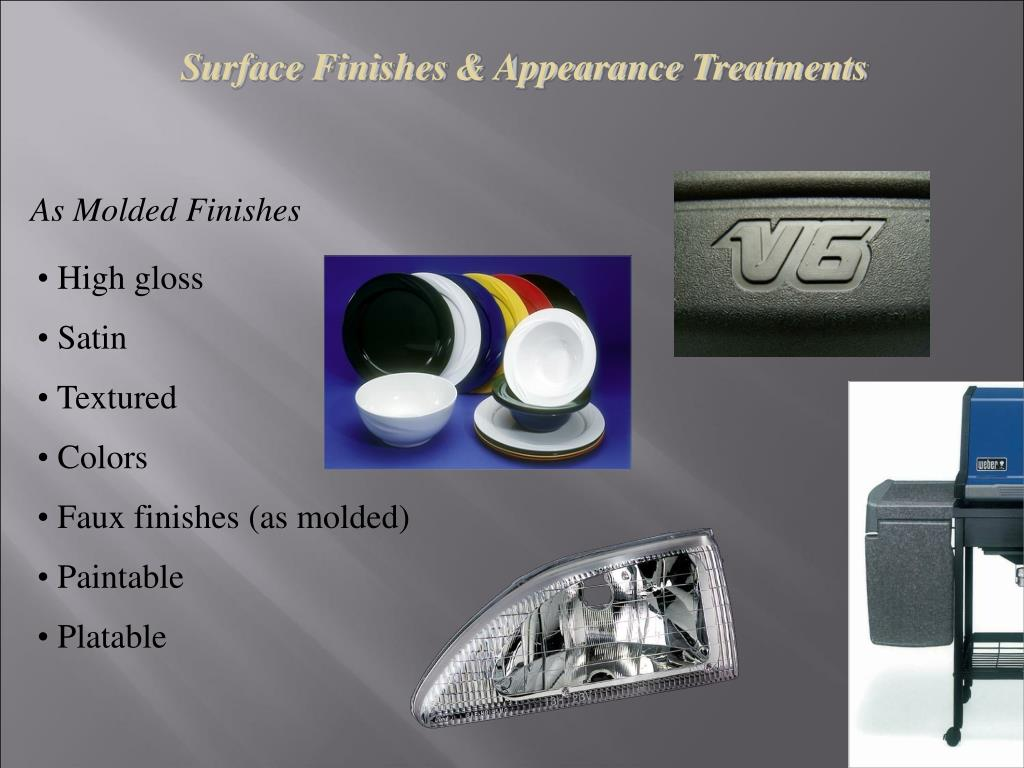 Surface Finishes & Appearance Treatments