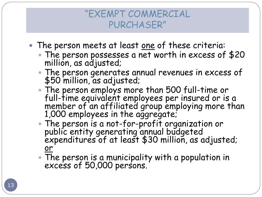 """EXEMPT COMMERCIAL"