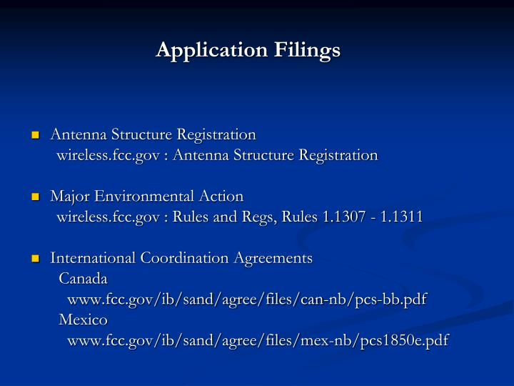 Application Filings