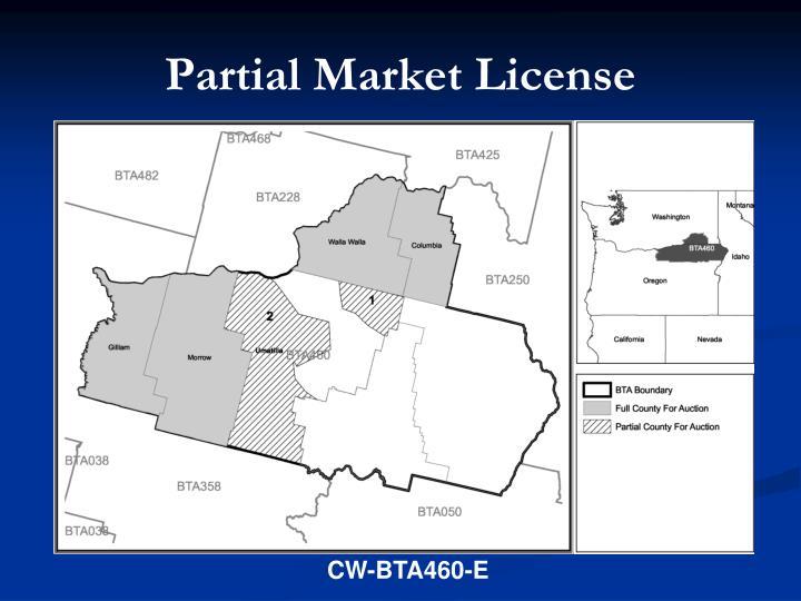 Partial Market License