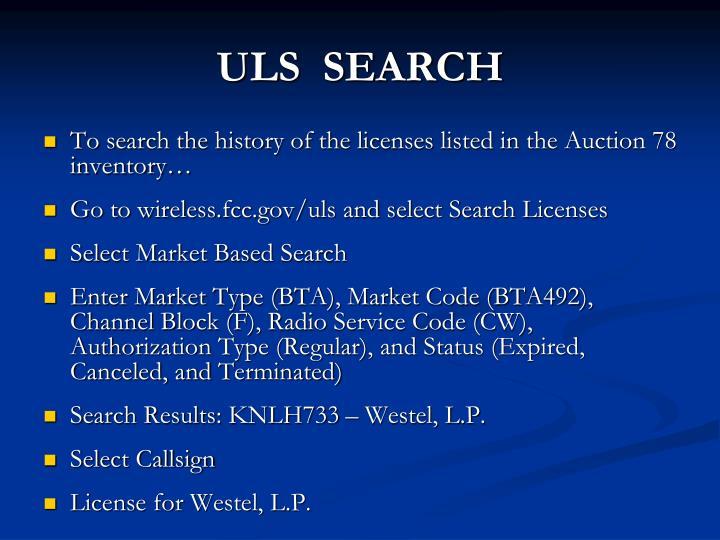 ULS  SEARCH