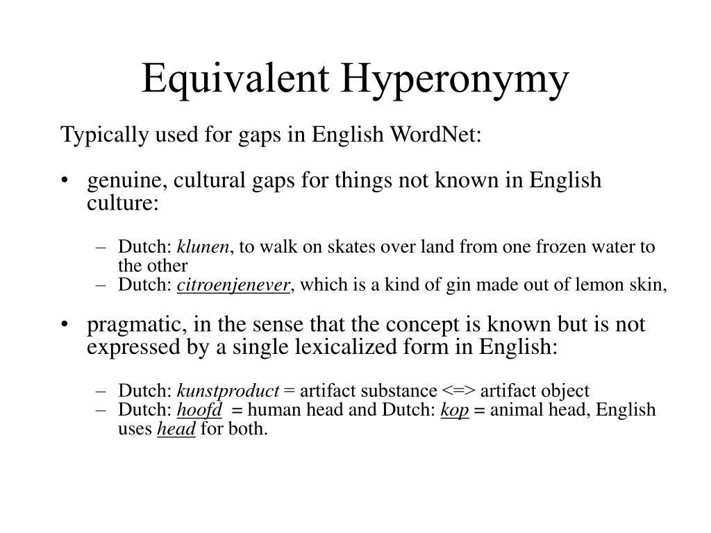 Equivalent Hyperonymy
