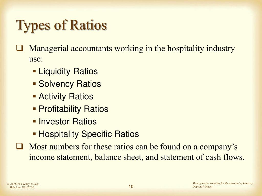 Types of Ratios