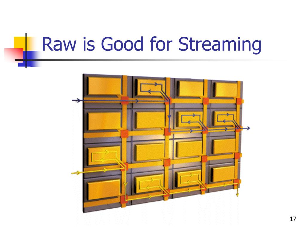 Raw is Good for Streaming