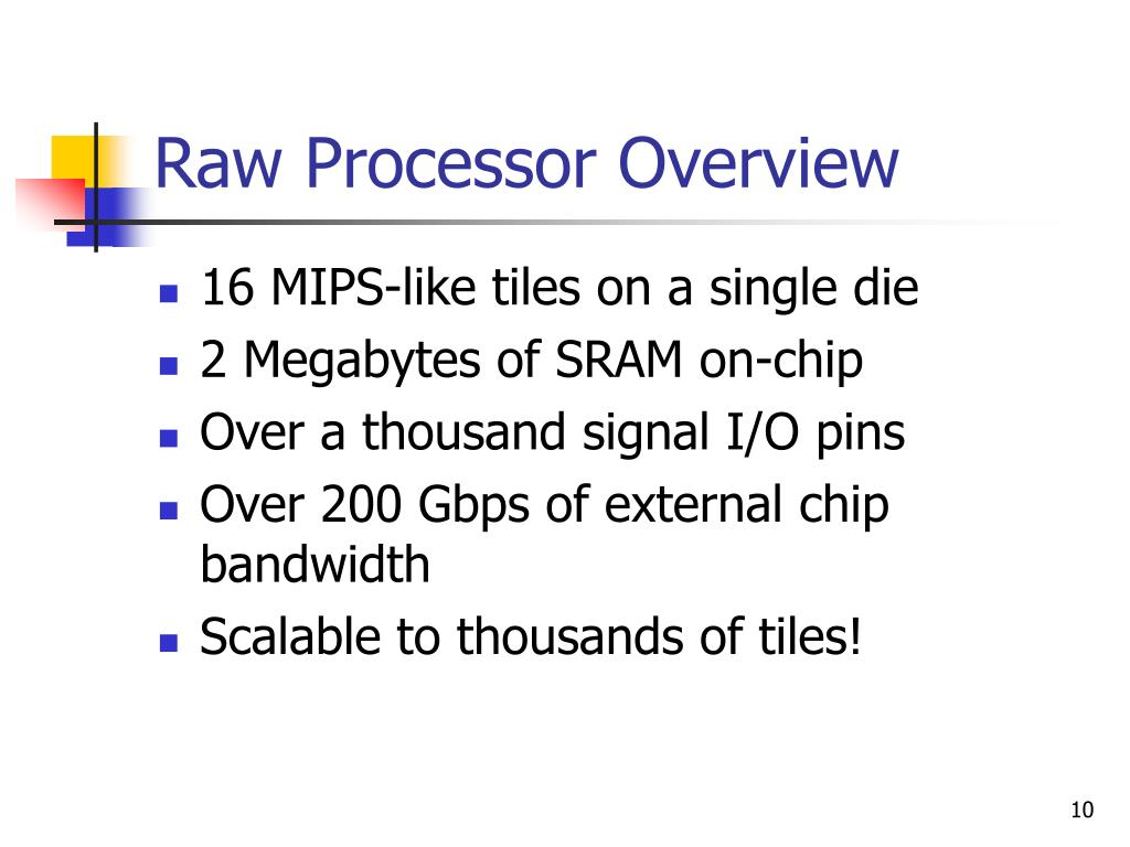 Raw Processor Overview