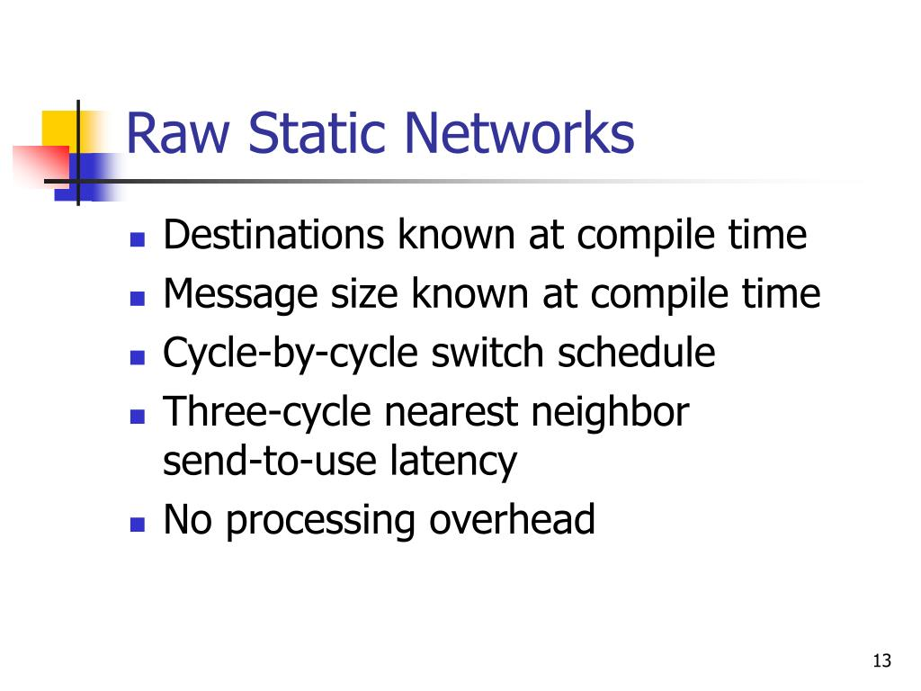 Raw Static Networks
