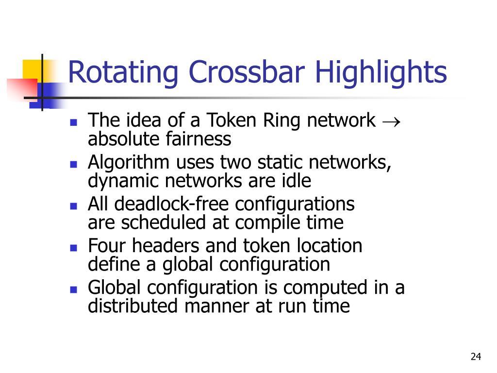 Rotating Crossbar Highlights
