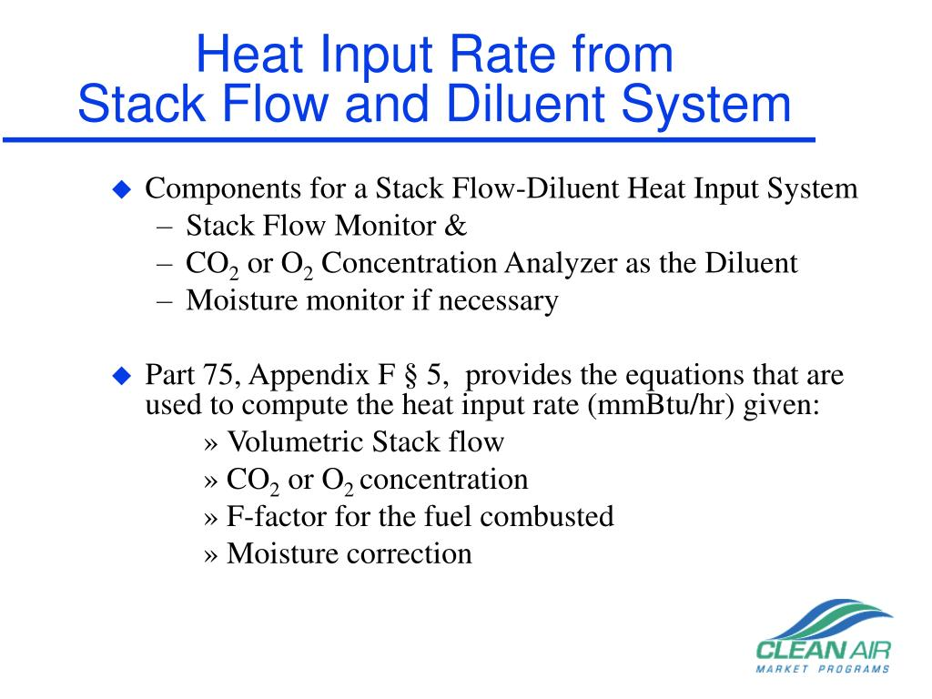 Heat Input Rate from