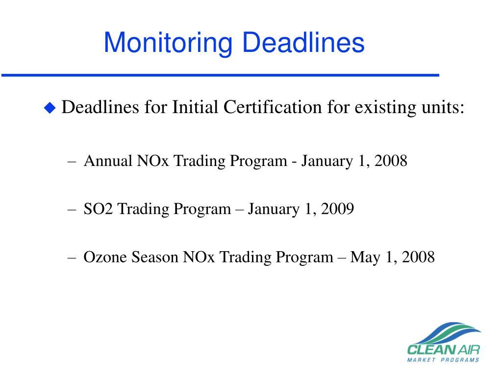 Monitoring Deadlines