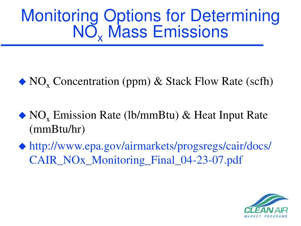 Monitoring Options for Determining